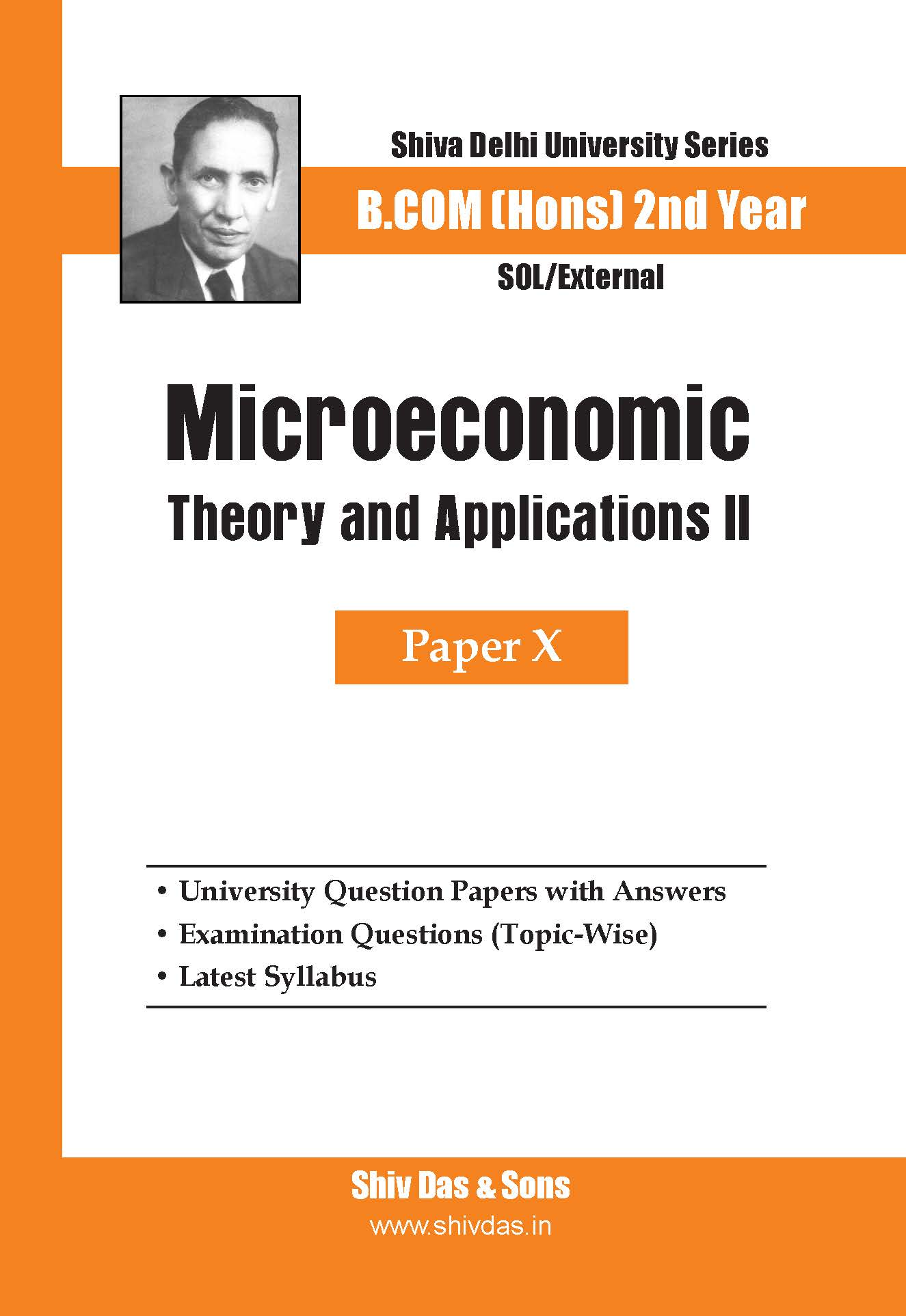 B.Com Hons-SOL/External-2nd Year-Microeconomics Theory and Applicatons - II-Shiv Das-Delhi University Series